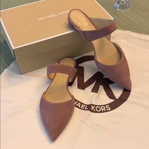 Authentic Michael Kors Verona Flat Suede Shoe